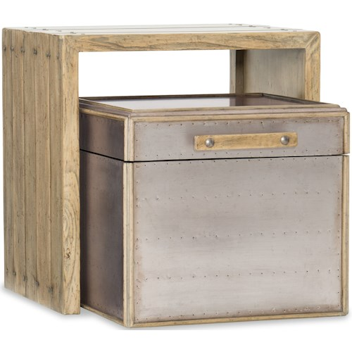 Hooker Furniture American Life-Urban Elevation Wooden Nesting and metal Storage Tables
