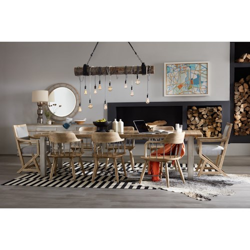 Hooker Furniture American Life Urban Elevation Dining Table With 2 22