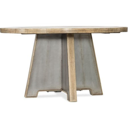 54in Metal Dining Table