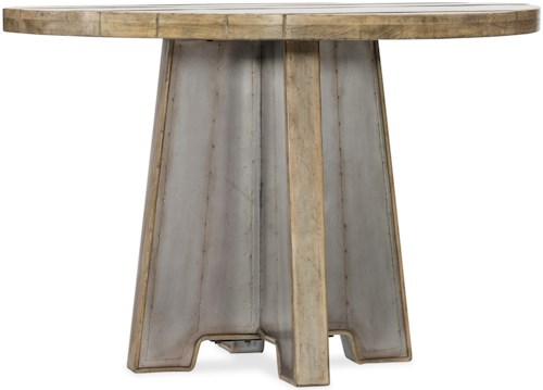 Hooker Furniture American Life-Urban Elevation 44in Metal Dining Table with Wood Top