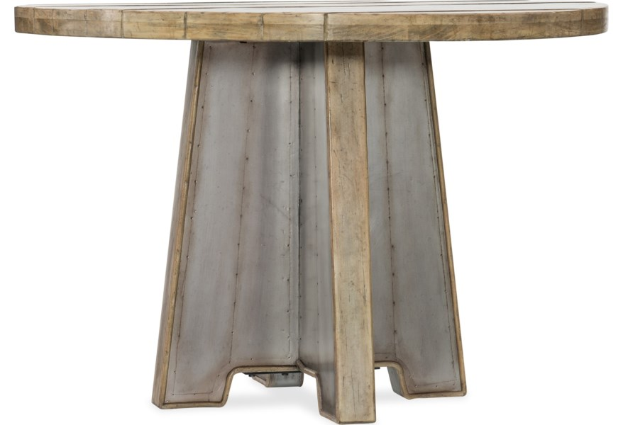 American Life-Urban Elevation 44in Metal Dining Table