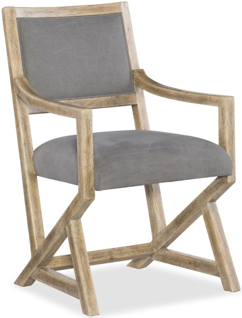 Hooker Furniture American Life-Urban Elevation Upholstered Arm Chair with Triangular Base