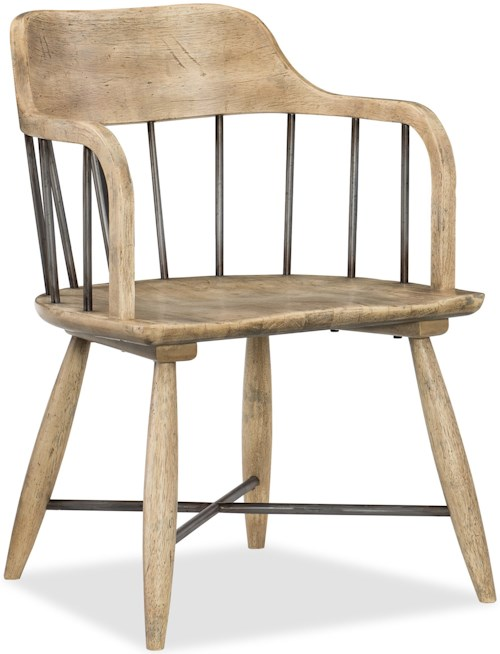 Hooker Furniture American Life-Urban Elevation Spindle Back Low Windsor Arm Chair