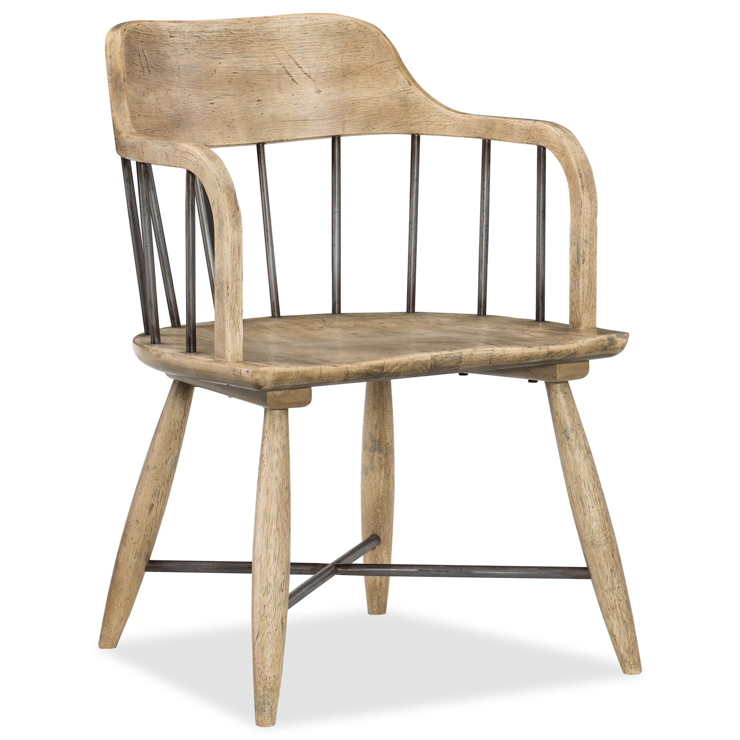 Hooker Furniture American Life Urban Elevation Spindle Back Low Windsor Arm  Chair