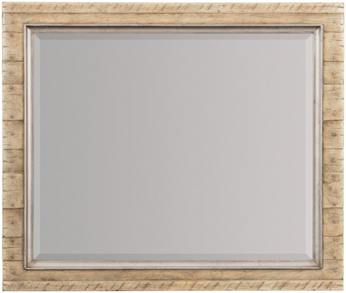 Hooker Furniture American Life-Urban Elevation Wood Frame Landscape Mirror with Metal Inlay