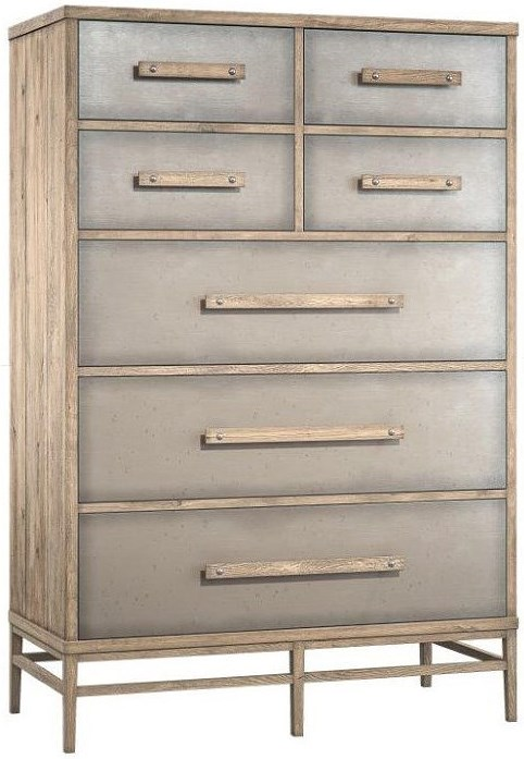 Hooker Furniture American Life-Urban Elevation Seven-Drawer Chest with Aluminum Drawer Fronts
