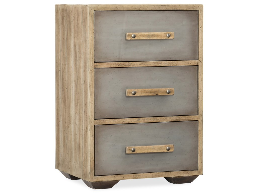 Hooker Furniture American Life-Urban ElevationThree-Drawer Nightstand