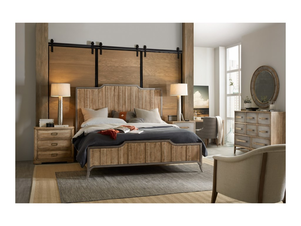 Hooker Furniture American Life-Urban ElevationQueen Wood Panel Bed