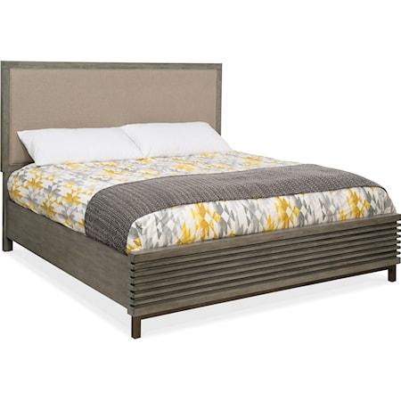 Queen Platform Upholstered Panel Bed