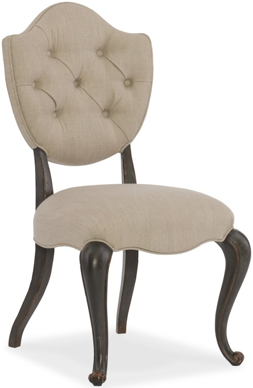 Hooker Furniture Arabella Upholstered Side Chair with Tufting