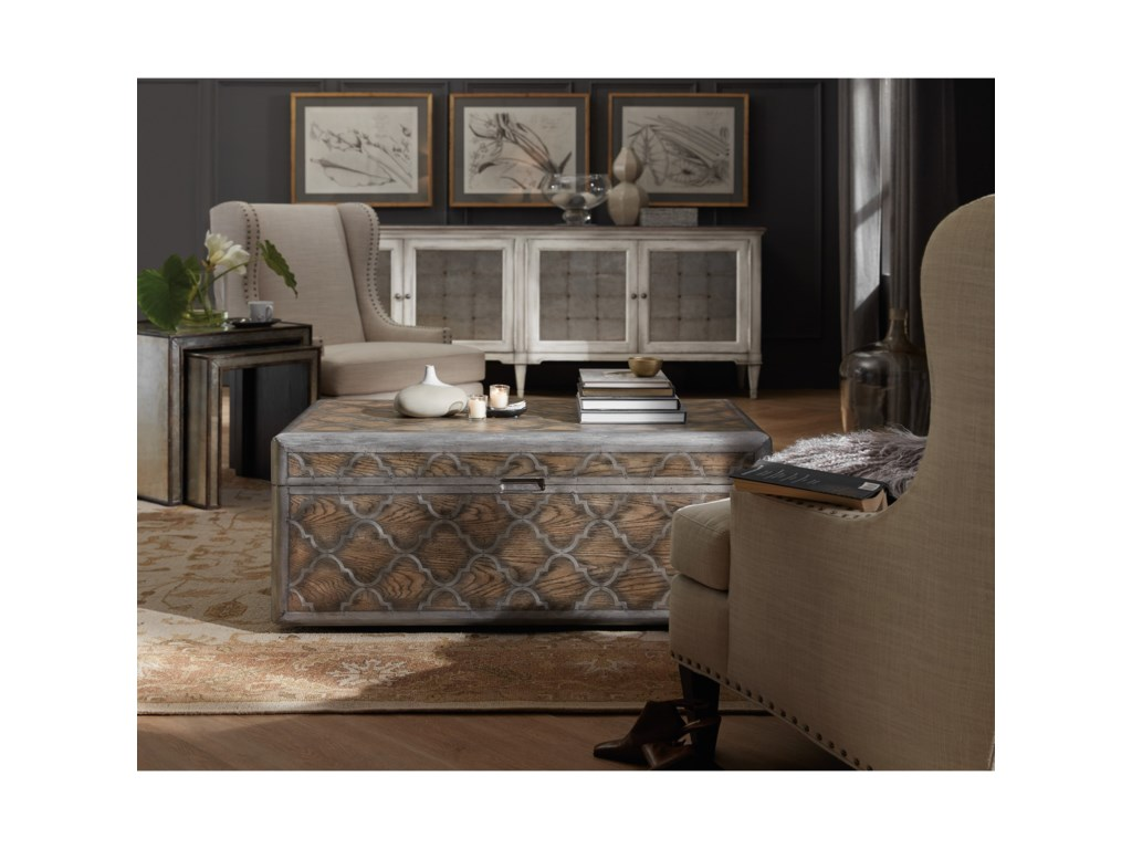 Hooker Furniture Arabella Trunk Cocktail Table With Metal Inlay - Arabella coffee table
