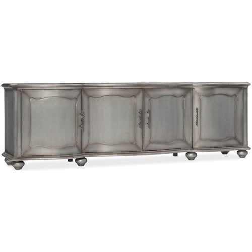 Hooker Furniture Arabella Metal-Wrapped Entertainment Console
