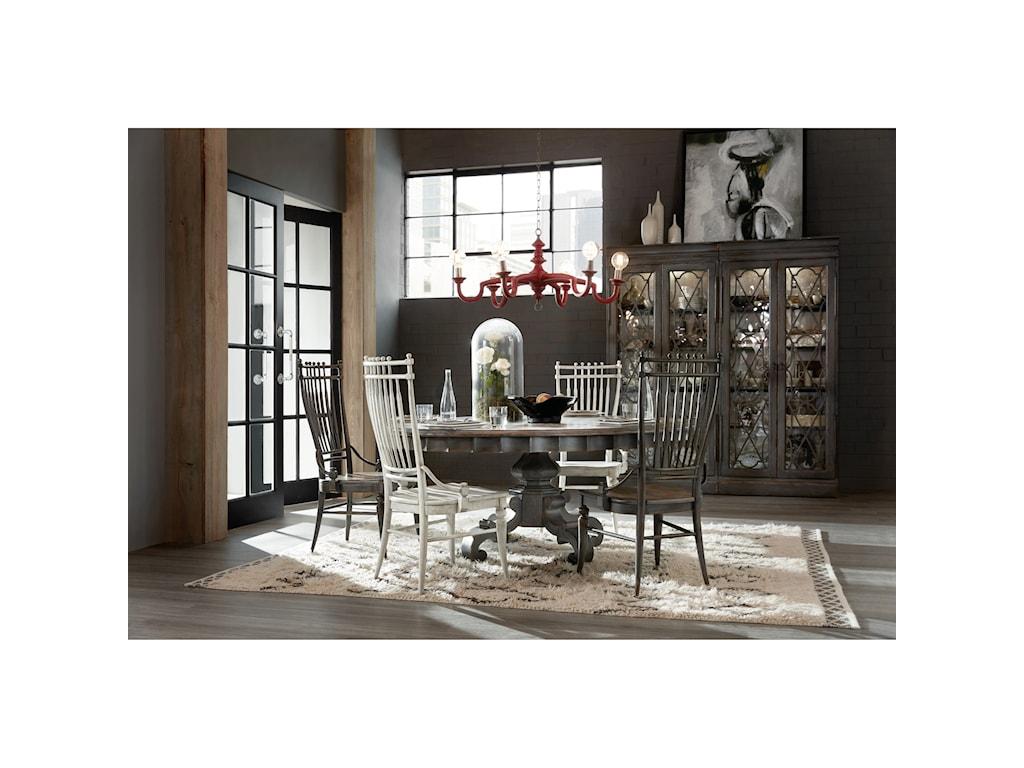 Hooker Furniture Arabella72in Round Pedestal Dining Table