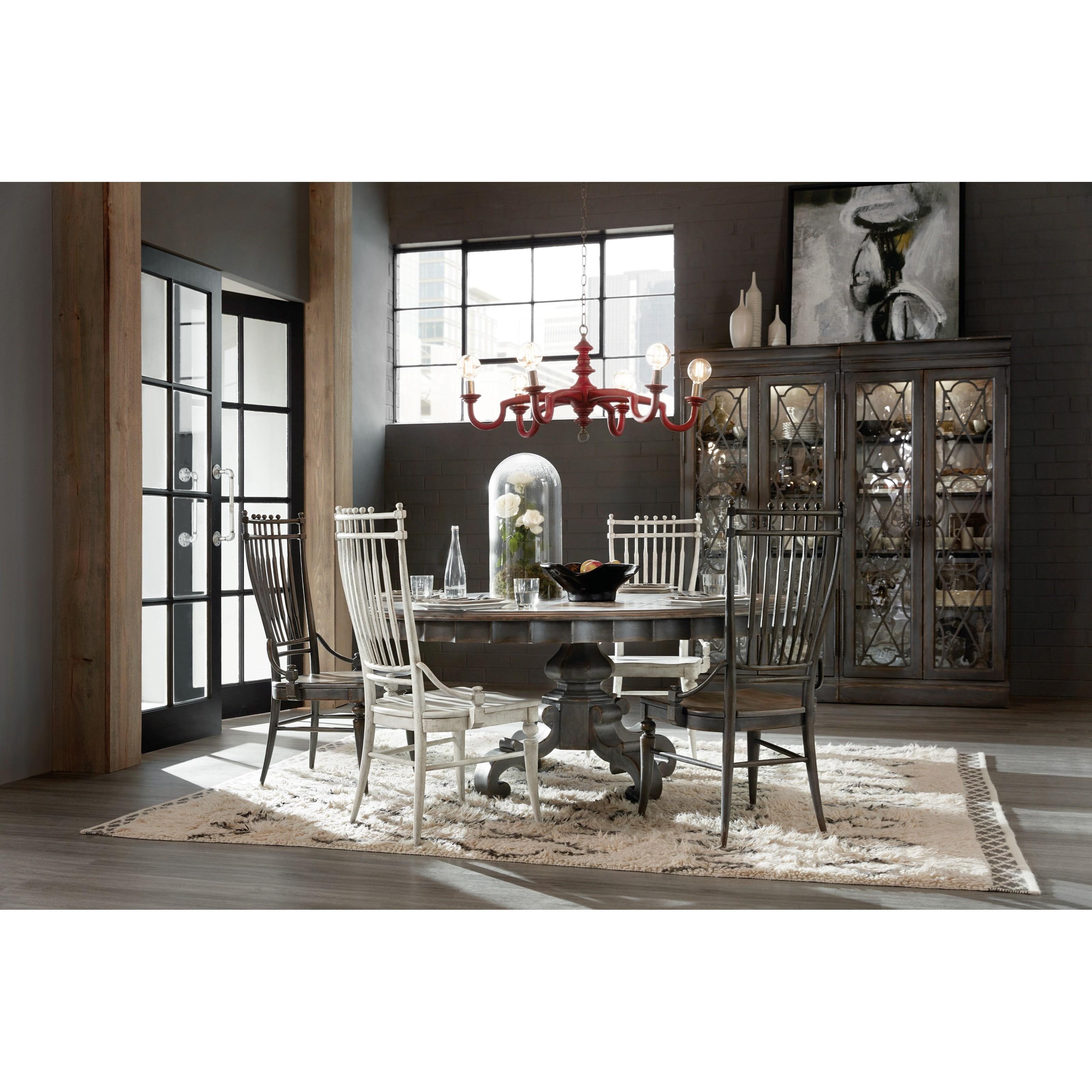 ... Hooker Furniture Arabella72in Round Pedestal Dining Table