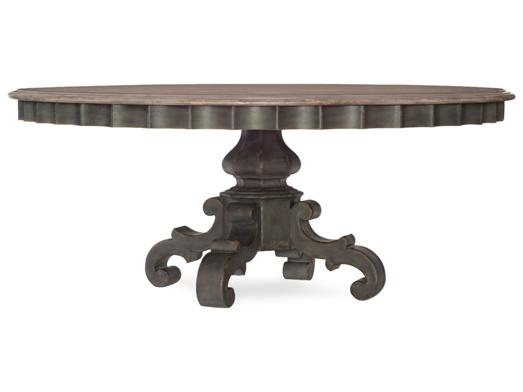 Hooker Furniture Arabella72in Round Pedestal Dining Table