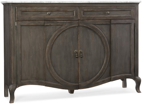 Hooker Furniture Arabella Four-Door Two-Drawer Credenza with Marble Top