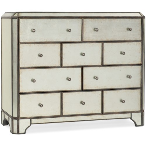 Hooker Furniture Arabella Mirrored Ten-Drawer Bureau