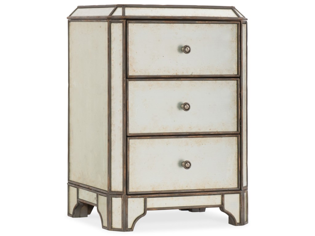 Hooker Furniture ArabellaMirrored Three-Drawer Nightstand