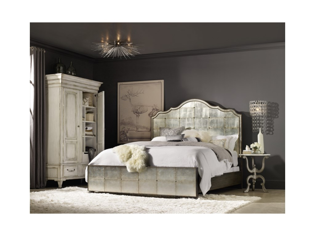 Hooker Furniture ArabellaKing Mirrored Panel Bed
