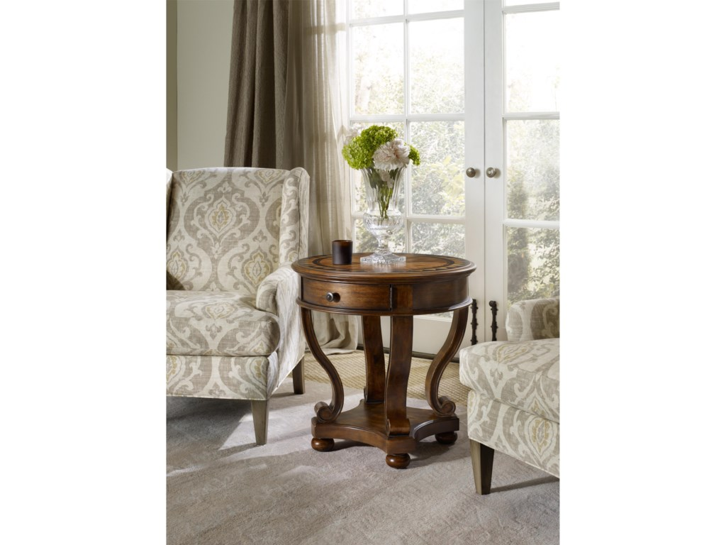 Hooker Furniture ArchivistRound Accent End Table