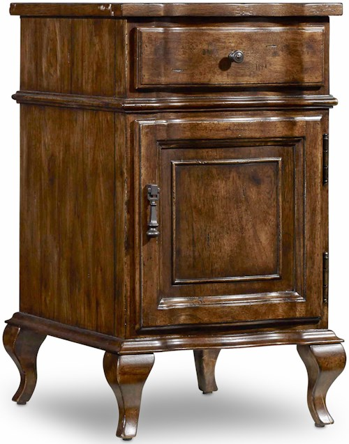 Hooker Furniture Archivist Accent Chairside Chest with Door