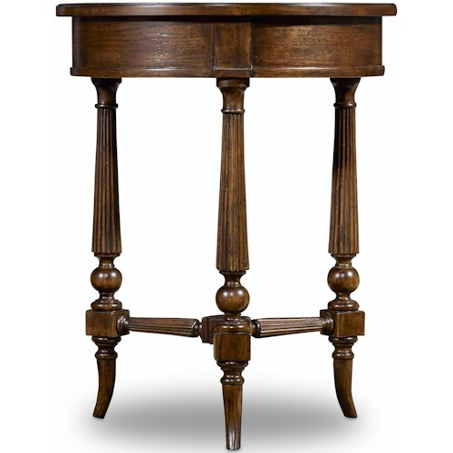 Hooker Furniture Archivist Round Accent Table with Fluted Legs