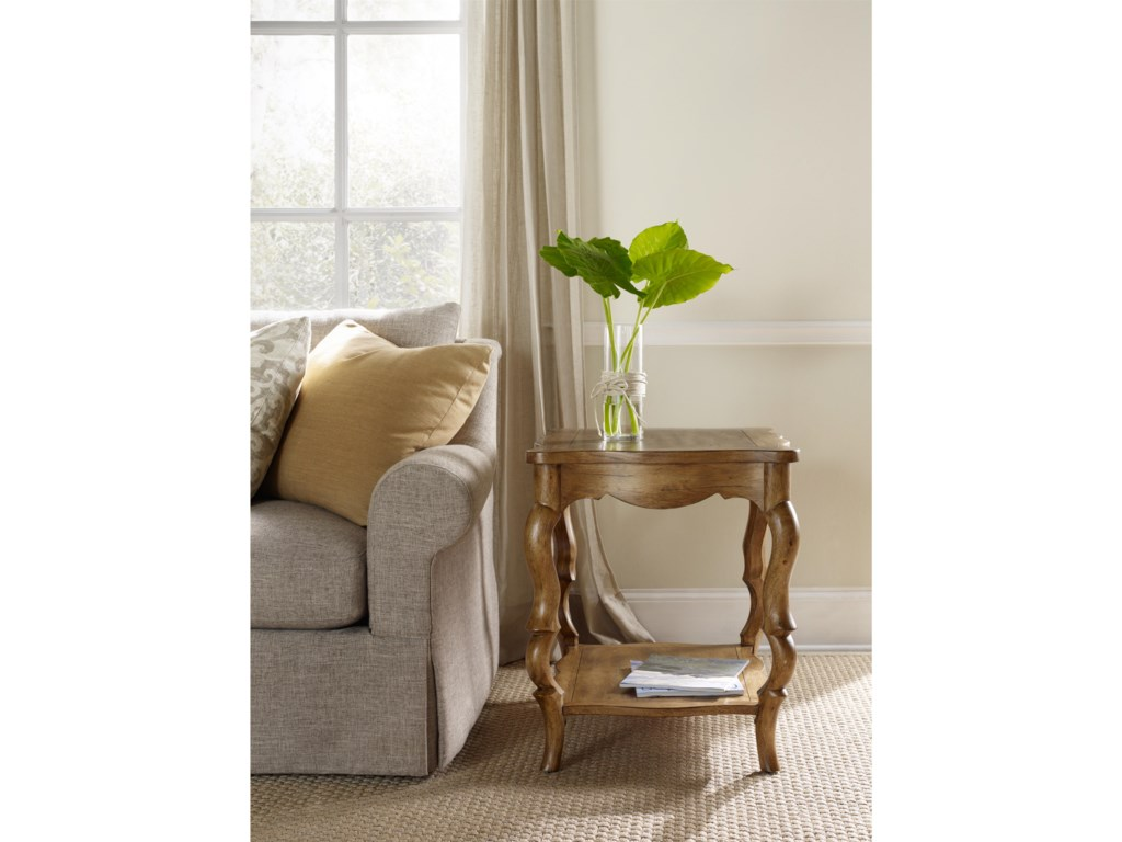 Hooker Furniture ArchivistFrench Leg Accent Table