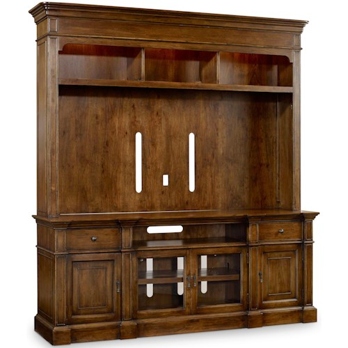 Hooker Furniture Archivist Two-Piece Entertainment Group with Built-in Lighting