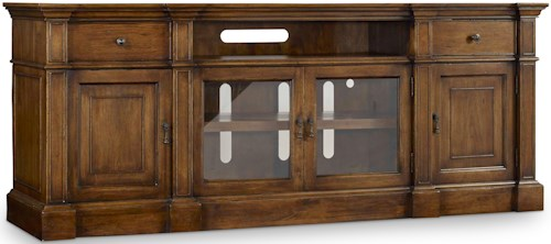 Hooker Furniture Archivist Entertainment Console with Outlets