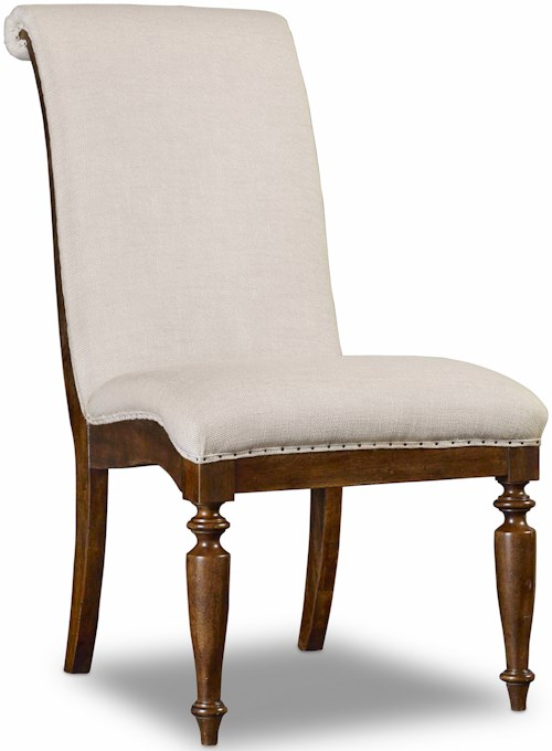 Hooker Furniture Archivist Upholstered Side Chair with Turned Legs
