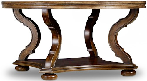 Hooker Furniture Archivist Round Cocktail Table with Shelf