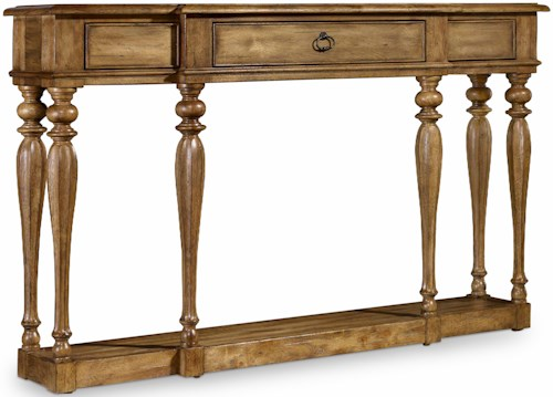 Hooker Furniture Archivist Accent Narrow Console with Turned Legs