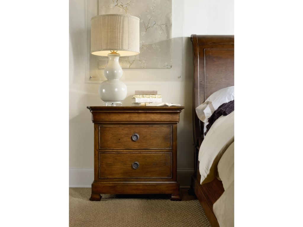 Hooker Furniture ArchivistThree-Drawer Nightstand