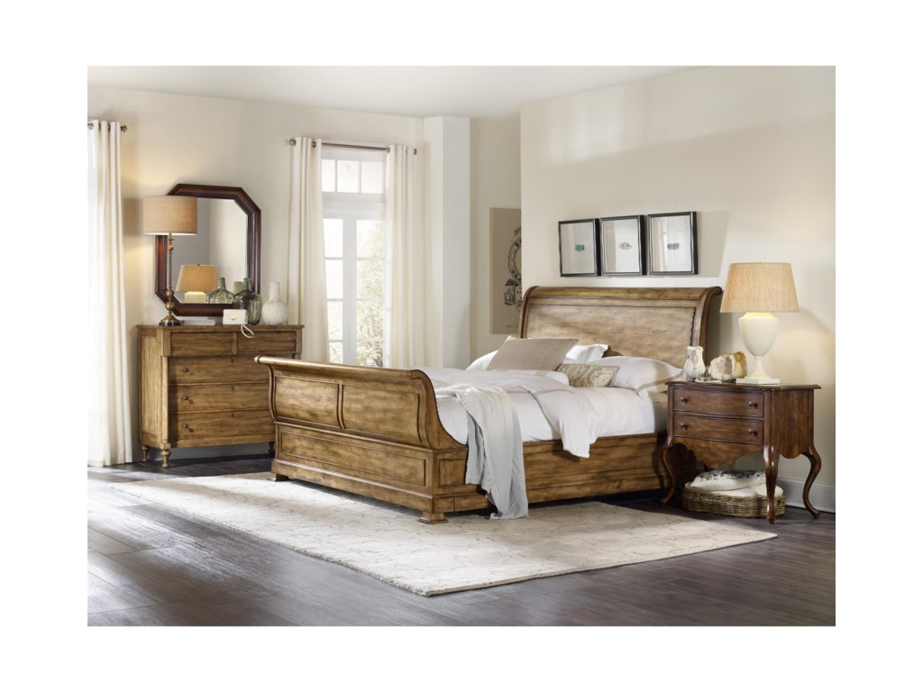 furniture wynterhall leather in hooker by htm brown piece set hf bedroom warm bed p finish rich platform