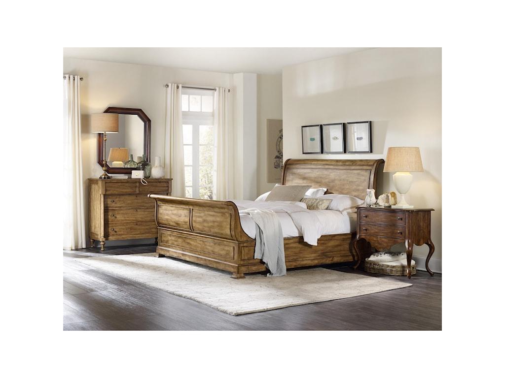 upholstered traditional hooker set sanctuary bed furniture product bedroom platform