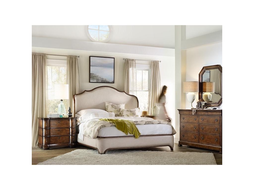 Hooker Furniture ArchivistQueen Upholstered Platform Shelter Bed