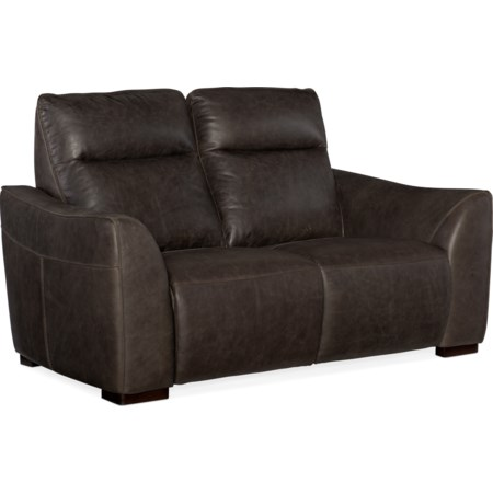 Power Leather Motion Loveseat