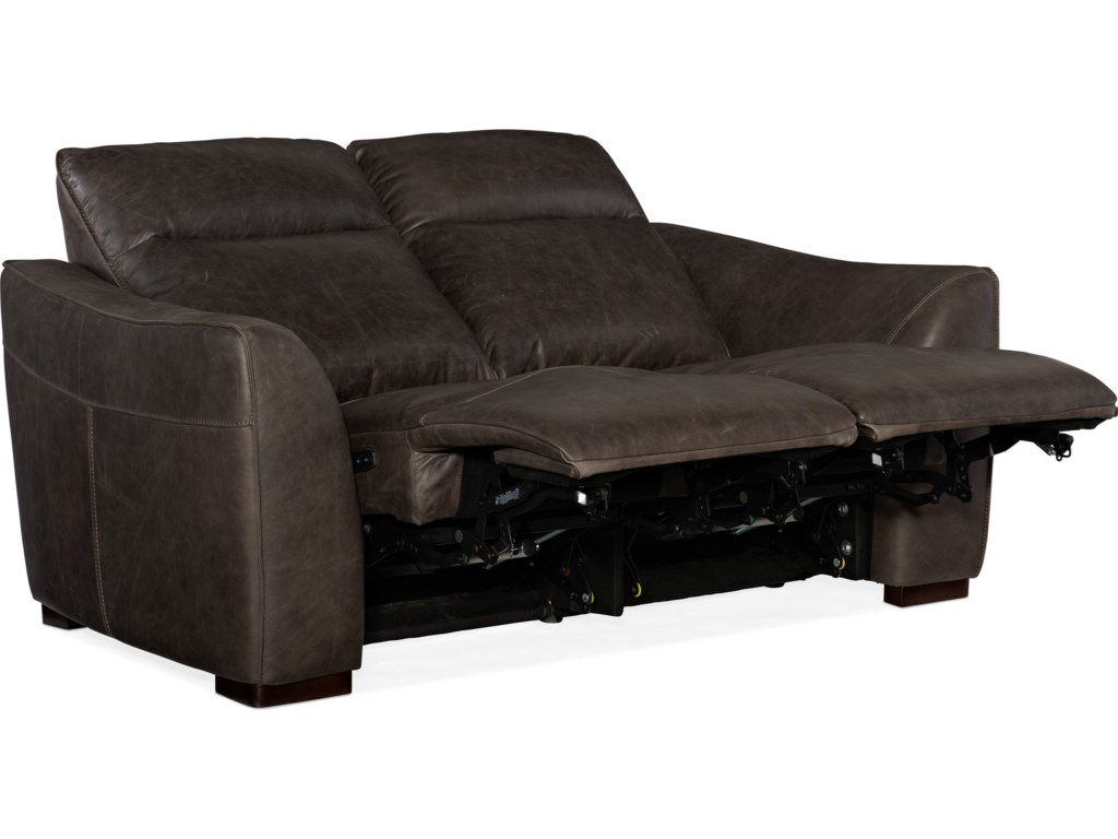Hooker Furniture AthenaPower Leather Motion Loveseat