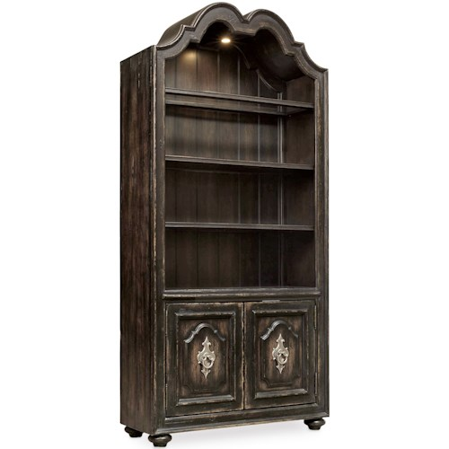 Hooker Furniture Auberose Bunching Bookcase with Built-in Lighting