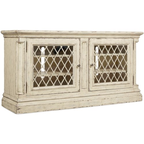 Hooker Furniture Auberose 72in Entertainment Console with Built-In Outlet