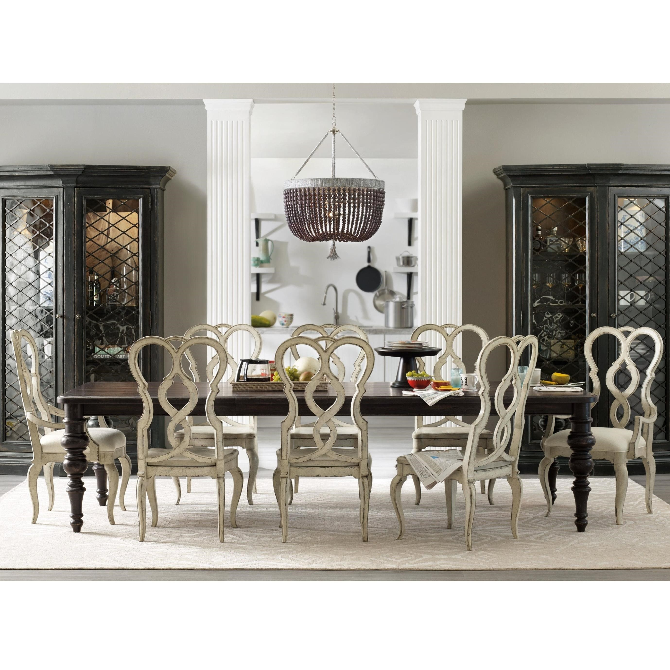 Auberose 9 Piece Dining Set With Splatback Chairs By Hooker Furniture