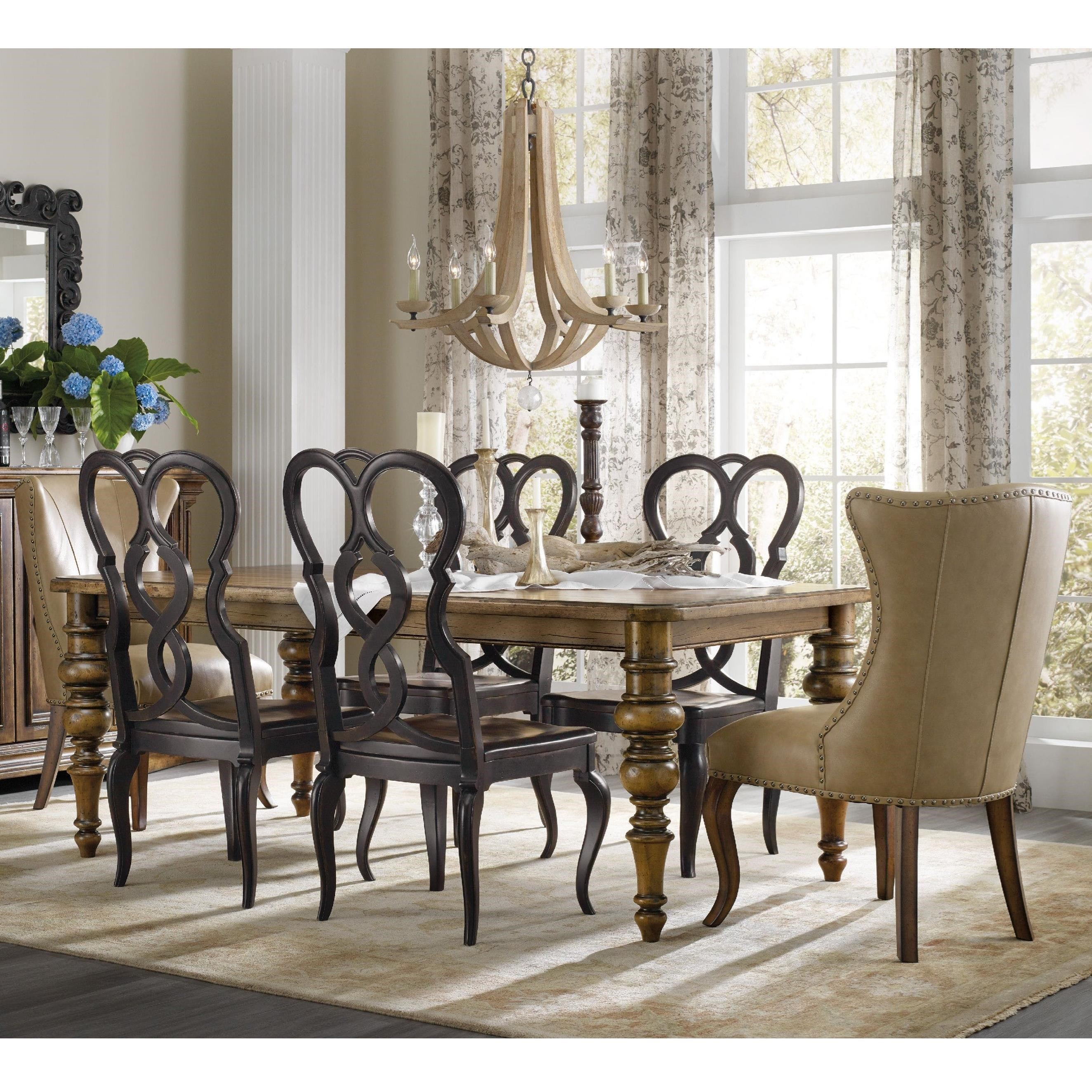 hooker furniture dining. Hooker Furniture Auberose 7 Piece Dining Set With Leather Host Chairs E