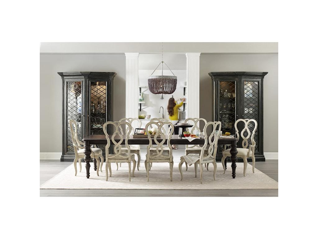 Hooker Furniture AuberoseUpholstered Splatback Arm Chair