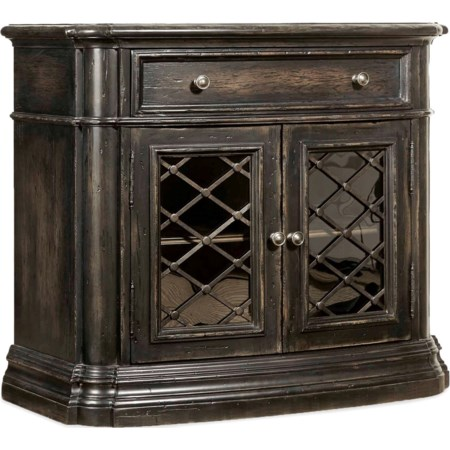 One-Drawer Two-Door Nightstand