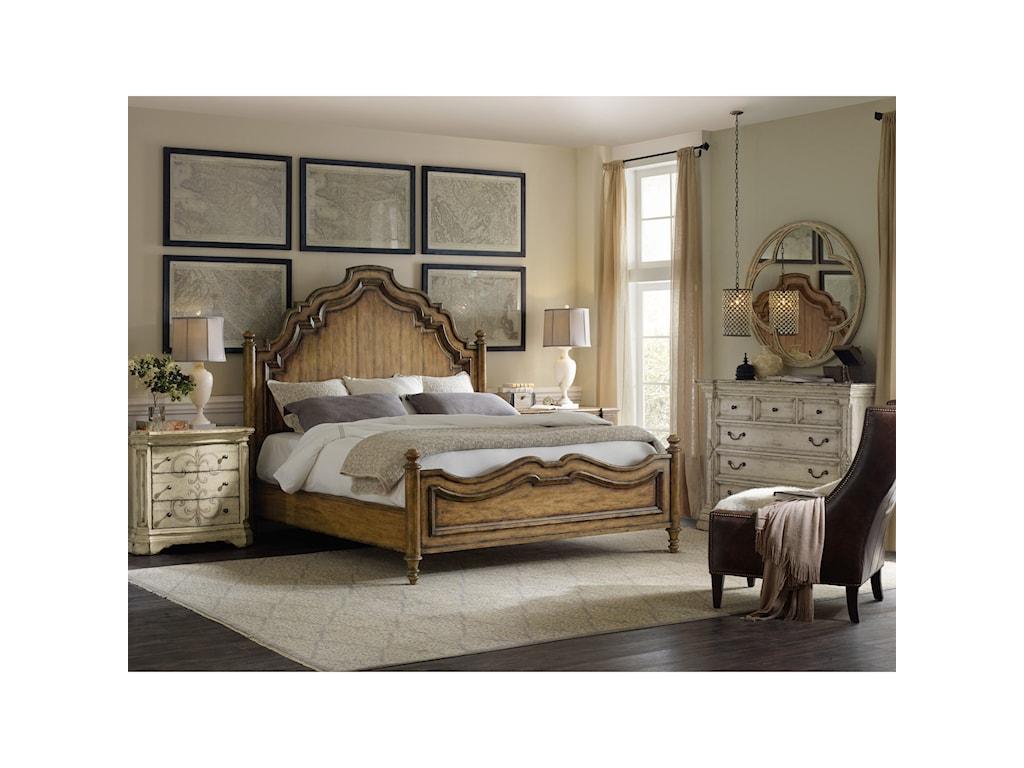 Hooker Furniture AuberoseQueen Panel Bed