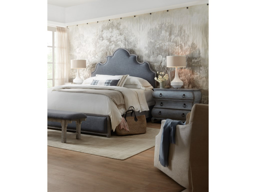 Hooker Furniture BeaumontKing Upholstered Bed