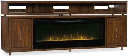 Hooker Furniture Big Sur Entertainment Console with Fireplace Insert