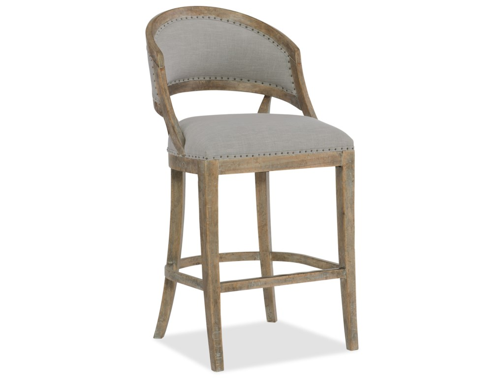 Hooker Furniture BohemeGarnier Barrel Back Bar Stool
