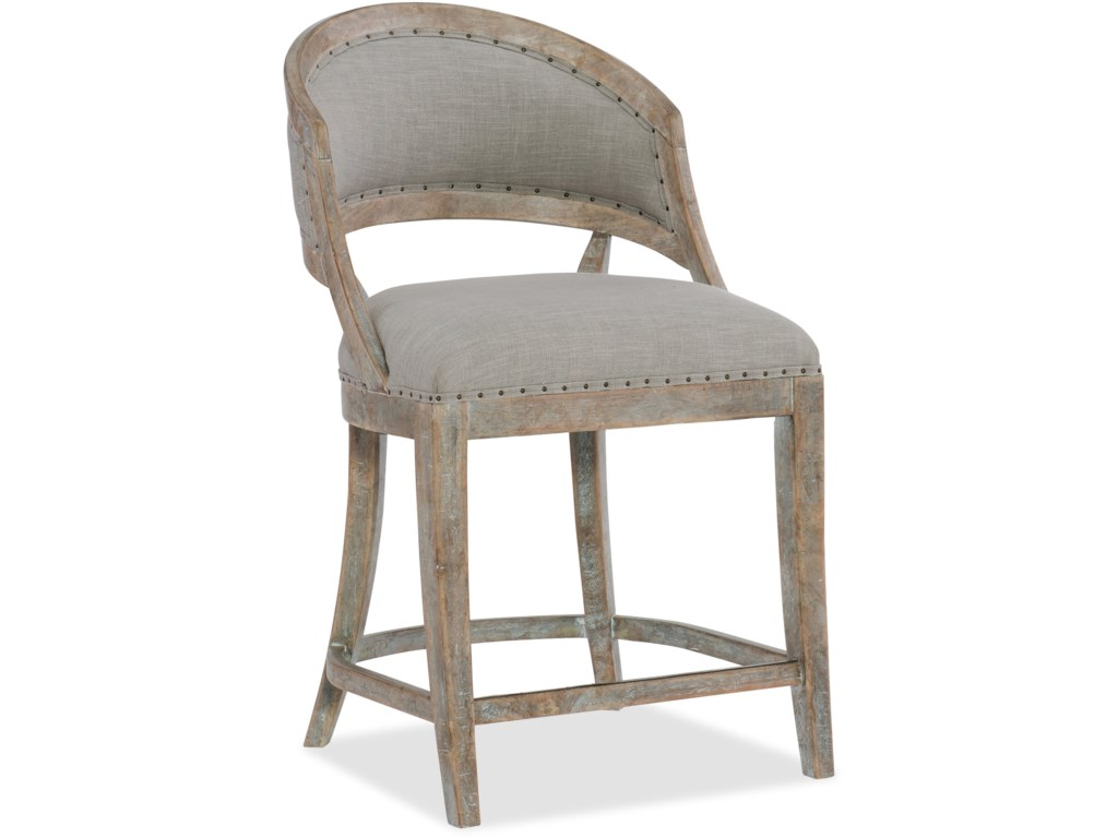 Hooker Furniture BohemeGarnier Barrel Back Counter Stool