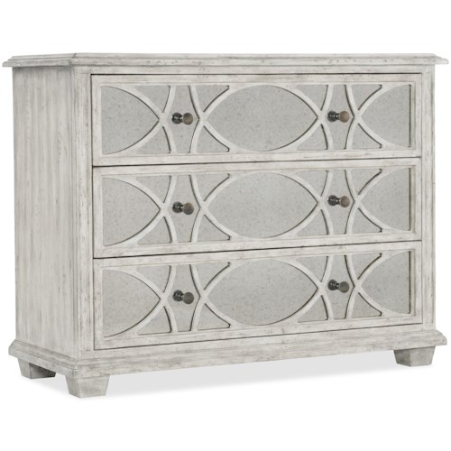 Hooker Furniture Boheme Duvel Accent Chest with Antique Glass Drawer Fronts